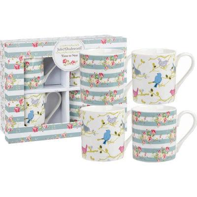 Julie Dodsworth Small Mug Set of 4 Time To Nest