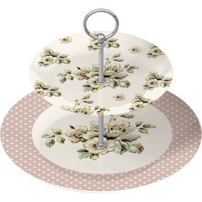 Katie Alice Cottage Flower 2-Tier Cake Stand