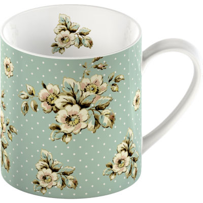 Katie Alice Cottage Flower Can Mug Green Floral