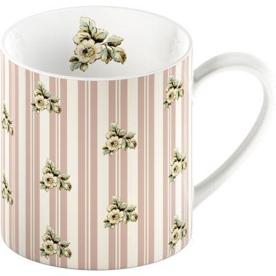 Katie Alice Cottage Flower Can Mug Pink Stripe