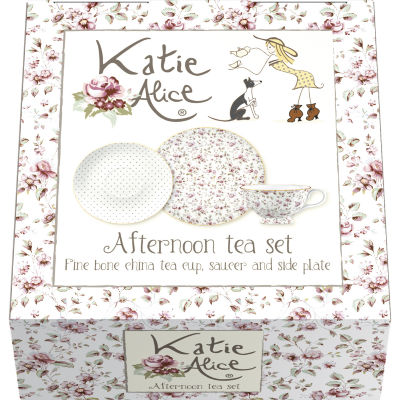 Katie Alice Ditsy Floral Afternoon Tea Set White