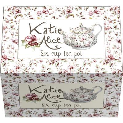 Katie Alice Ditsy Floral Teapot White