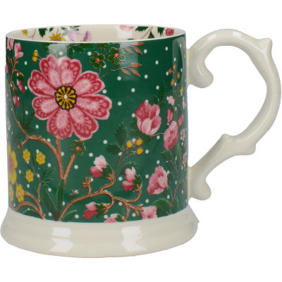 Katie Alice Eastern Flora Tankard Mug Green Flora