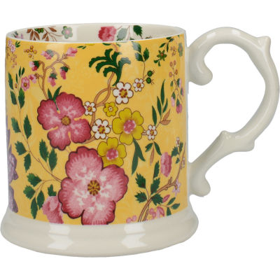 Katie Alice Eastern Flora Tankard Mug Mustard Flora