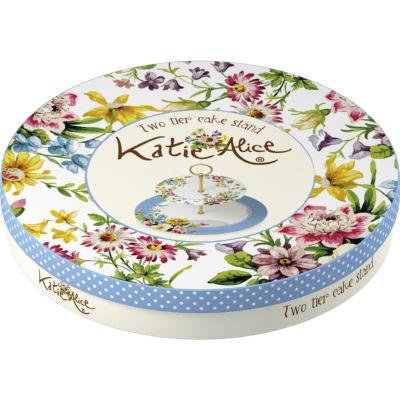 Katie Alice English Garden 2-Tier Cake Stand