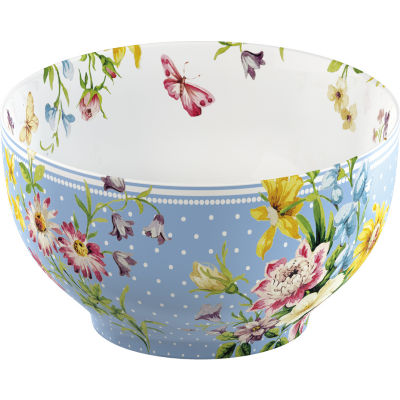 Katie Alice English Garden Cereal Bowl Blue Spot