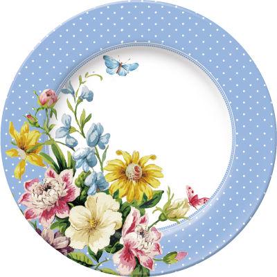 Katie Alice English Garden Side Plate Blue Spot