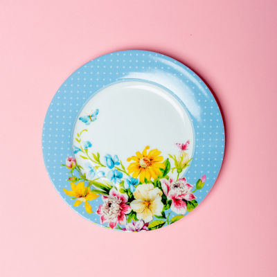 Katie Alice English Garden Side Plate Floral Blue
