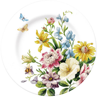Katie Alice English Garden Side Plate White Floral