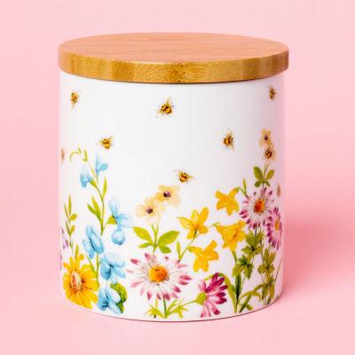 Katie Alice English Garden Storage Jar Floral White