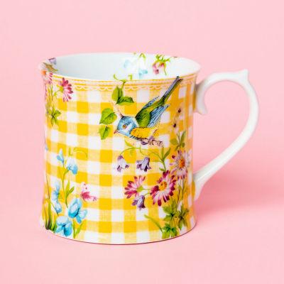 Katie Alice English Garden Tankard Mug Gingham Yellow