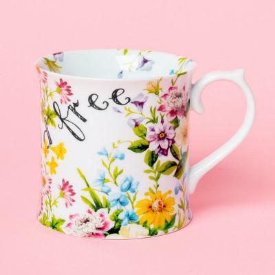 Katie Alice English Garden Tankard Mug Wild & Free White