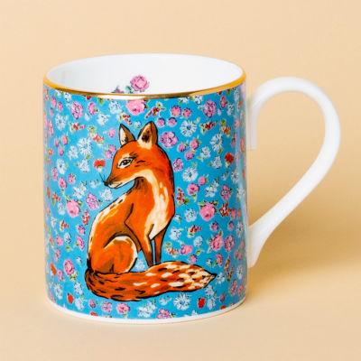 Katie Alice Forest Fling Small Mug Fox Sky