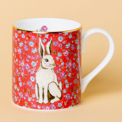 Katie Alice Forest Fling Small Mug Hare Cherry