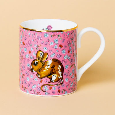 Katie Alice Forest Fling Small Mug Wood Mouse Pink