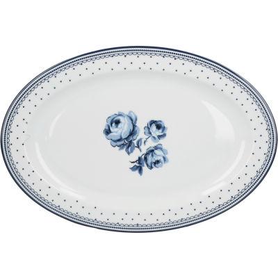 Katie Alice Vintage Indigo Oval Serving Platter