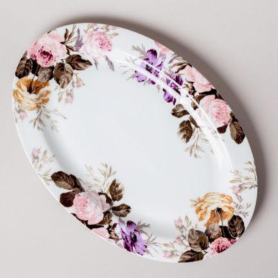 Katie Alice Wild Apricity Oval Platter White