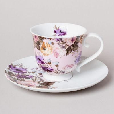 Katie Alice Wild Apricity Teacup & Saucer Pink