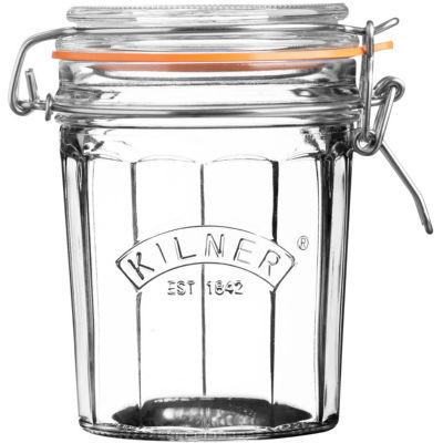 Kilner Home Preserving Jars Facetted Kilner Cliptop Jar Tall 0.45L