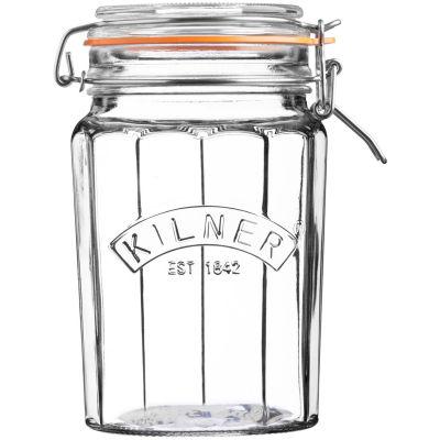 Kilner Home Preserving Jars Facetted Kilner Cliptop Jar Tall 0.95L