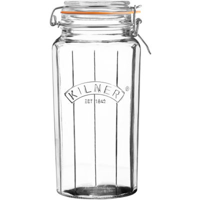 Kilner Home Preserving Jars Facetted Kilner Cliptop Jar Tall 1.8L