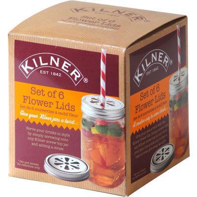 Kilner Home Preserving Jars Kilner Flower Lid Set of 6