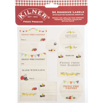 Kilner Home Preserving Jars Kilner Fresh Produce Label Set Pack of 24