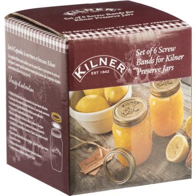 Kilner Home Preserving Jars Kilner Screw Bands Original Set of 6