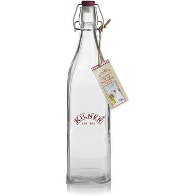 Kilner Home Preserving Jars Kilner Square Cliptop Bottle 1L