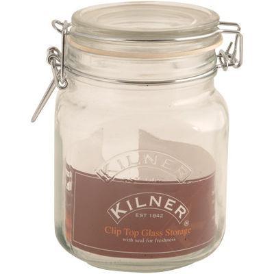 Kilner Home Preserving Jars Square Kilner Cliptop Jar 1L