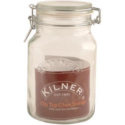 Kilner Home Preserving Jars Square Kilner Cliptop Jar 2L