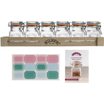 Kilner Home Preserving Jars Square Kilner Cliptop Spice Jar Set of 6