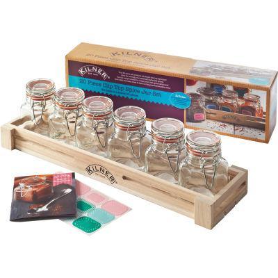 Kilner Home Preserving Jars Square Kilner Cliptop Spice Jar Set