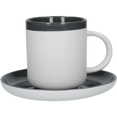 La Cafetiere Barcelona Collection Barcelona Coffee Cup & Saucer Cool Grey