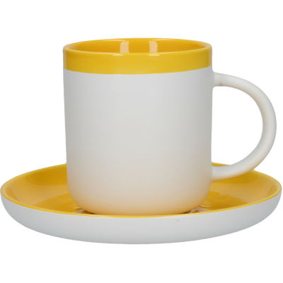 La Cafetiere Barcelona Collection Barcelona Coffee Cup & Saucer Mustard Yellow