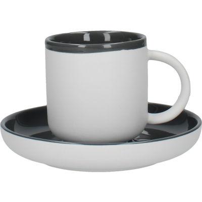 La Cafetiere Barcelona Collection Barcelona Espresso Cup & Saucer Cool Grey