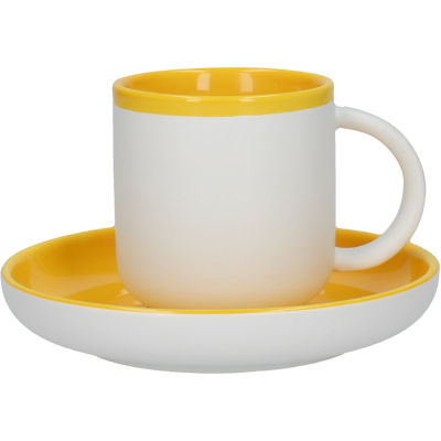 La Cafetiere Barcelona Collection Barcelona Espresso Cup & Saucer Mustard Yellow
