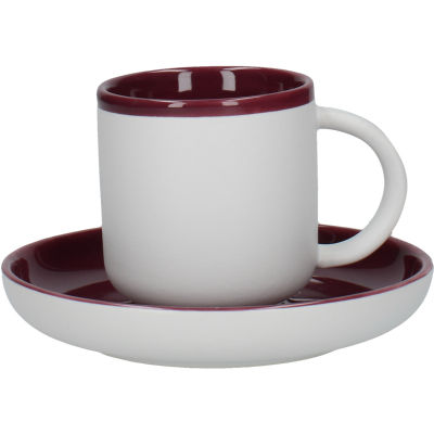 La Cafetiere Barcelona Collection Barcelona Espresso Cup & Saucer Plum