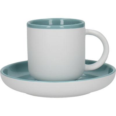 La Cafetiere Barcelona Collection Barcelona Espresso Cup & Saucer Retro Blue