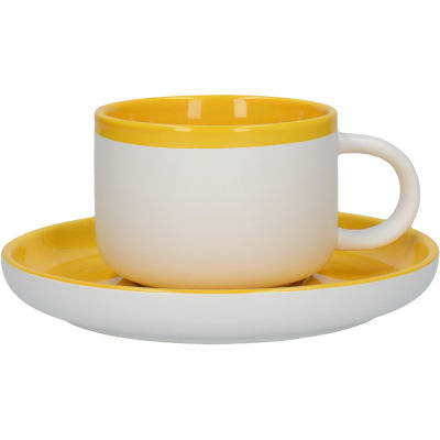 La Cafetiere Barcelona Collection Barcelona Teacup & Saucer Mustard Yellow