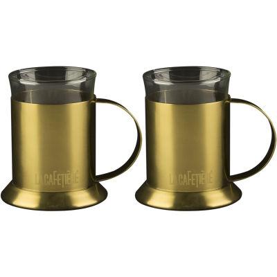 La Cafetiere Edited Collection Edited Mug Set of 2 Brushed Gold