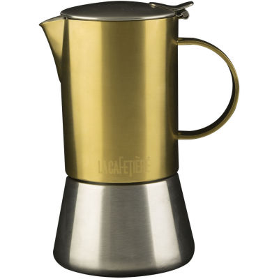 La Cafetiere Edited Collection Edited Stovetop 4 Cup Brushed Gold