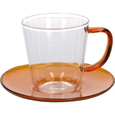 La Cafetiere Colour Collection Colour Teacup & Saucer Amber