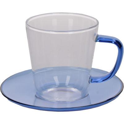 La Cafetiere Colour Collection Colour Teacup & Saucer Blue