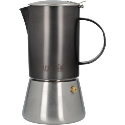 La Cafetiere Edited Collection Edited Stovetop 4 Cup Brushed Gun Metal