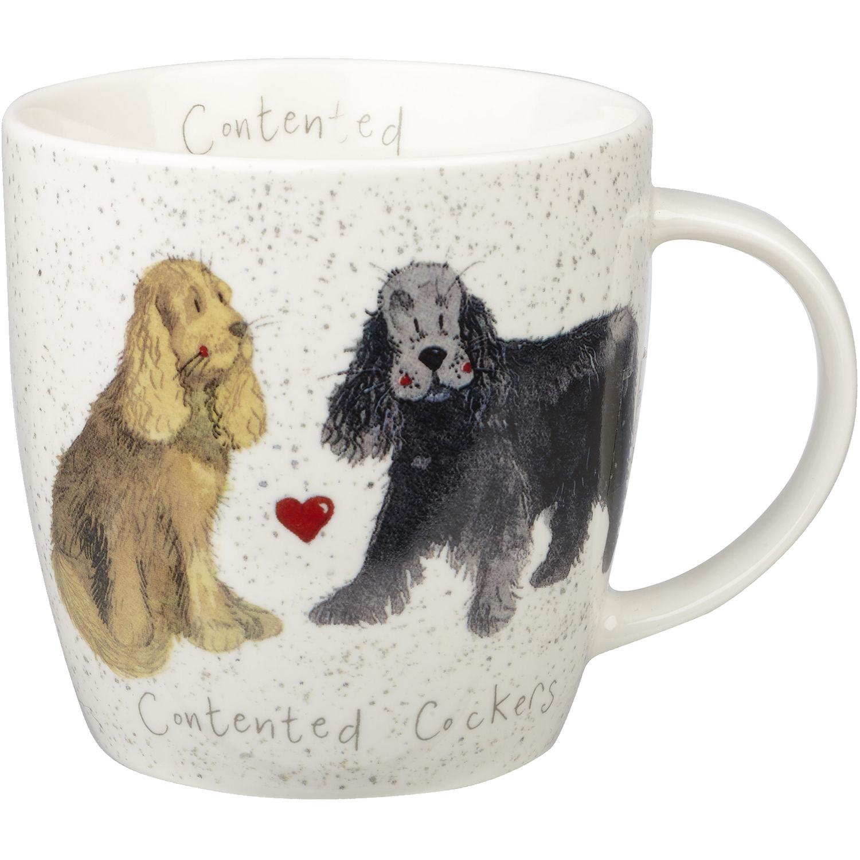 Alex Clark Mugs Mug Tub Contented Cockers Louis Potts
