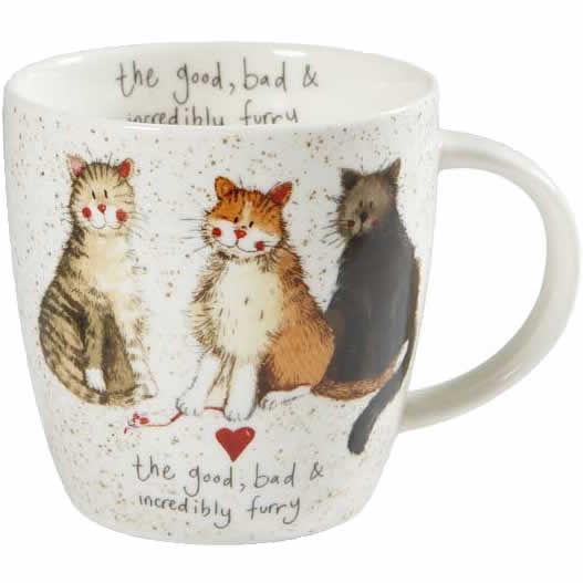 6a65462a837 Alex Clark Mugs Mug Tub The Good, The Bad & The Furry   Louis Potts