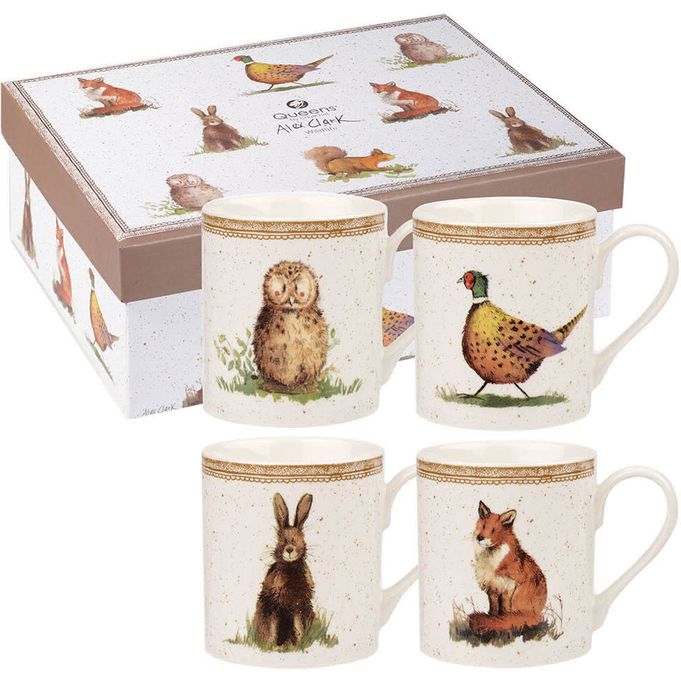 aac1e469de1 Alex Clark Mugs Mug Small Wildlife Set of 4   Louis Potts