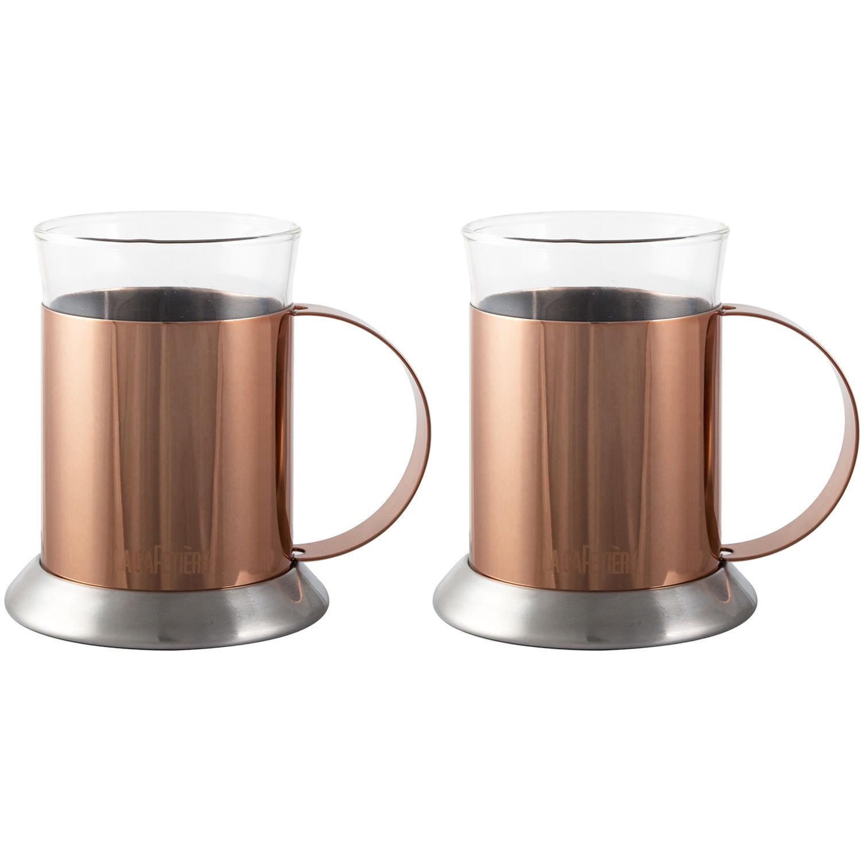 La Cafetiere Cafetiere Collection Origins Copper \u0026 Glass Mug Set ...  sc 1 st  Louis Potts & La Cafetiere Cafetiere Collection Origins Copper \u0026 Glass Mug Set of ...