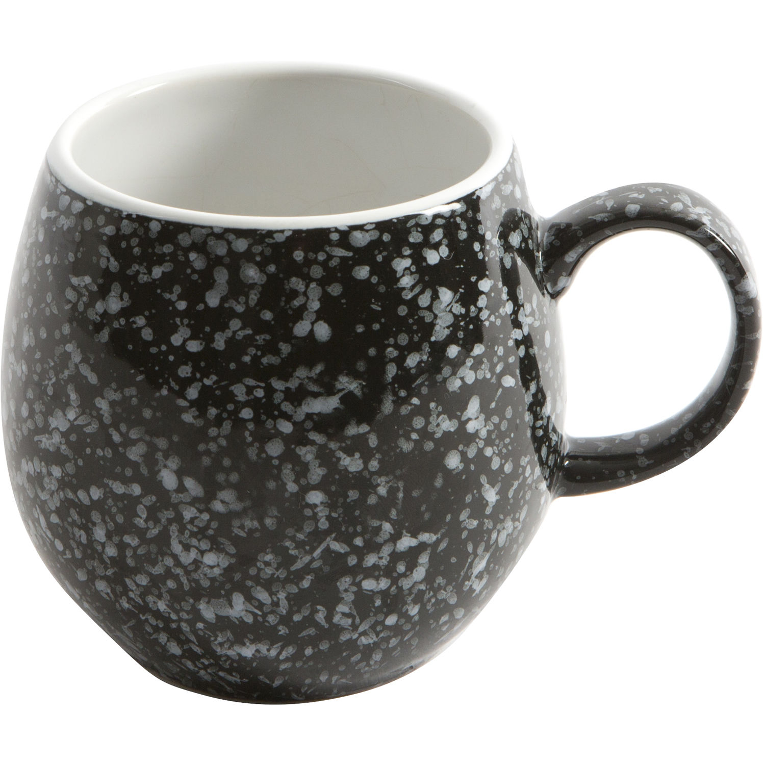 London Pottery Pebble Teapots Mug Gloss Flecked Black